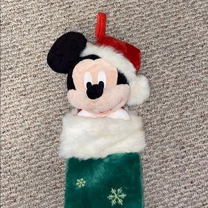MAKEOFFER Disney Mickey Mouse Santa Plush Stocking